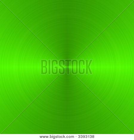 Brushed Neon Green Circular