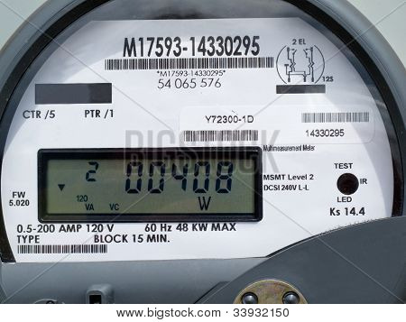 LCD display of smart grid power supply meter
