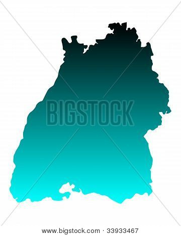 Map Of Baden-wuerttemberg