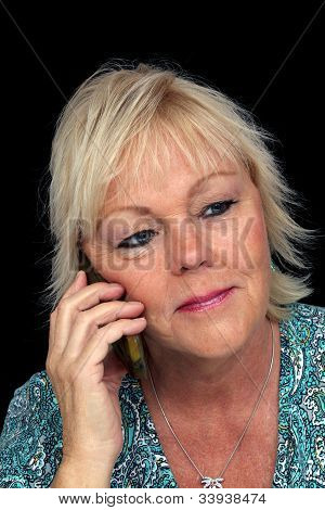 Mature Blonde Woman With Cell Phone (1)