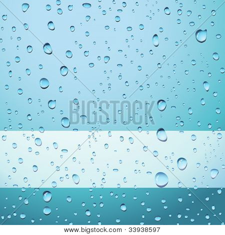 Blue Drops Abstract Background