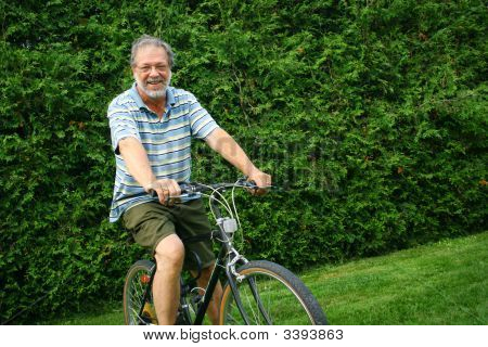 Senior On A Bike