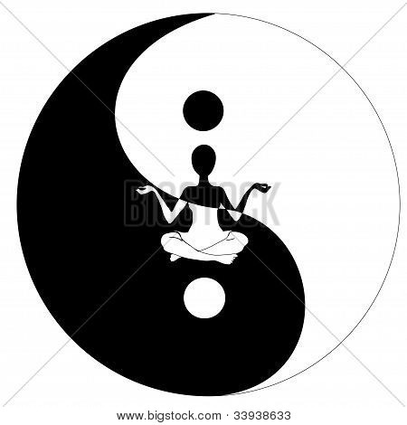 yin yang symbol and Yoga