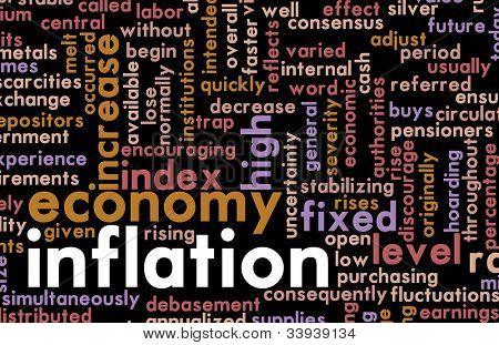 Inflation als ein wirtschaftliches Problem eine Regierung
