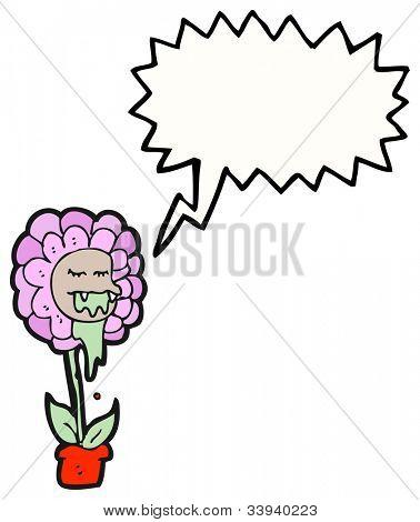 cartoon flower monster