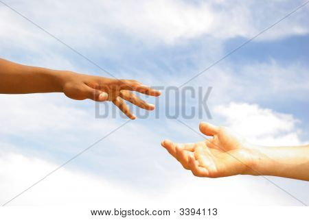 Hands With  Sky