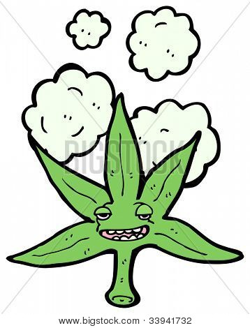 cartoon marijuana leaf character