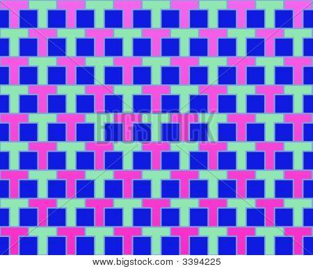 Pop Art Rows Of Ts Pattern Fuchsia Blue Pale Blue