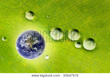 Nature Conservation- Glowing Earth & Water Drops