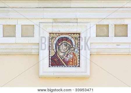 Mosaic Of Icon Of The Kazan Mother Of God