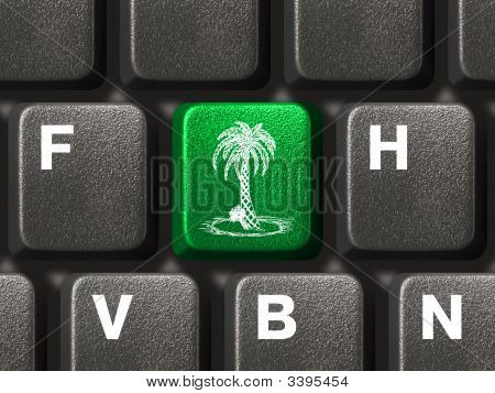 Computer Keyboard With Vacation Key