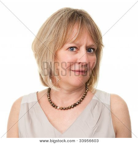 Woman With Puzzled Worried Expression