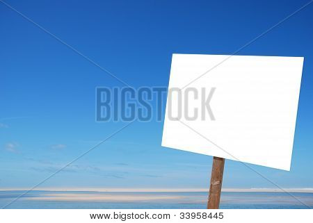 Sign At The Beach