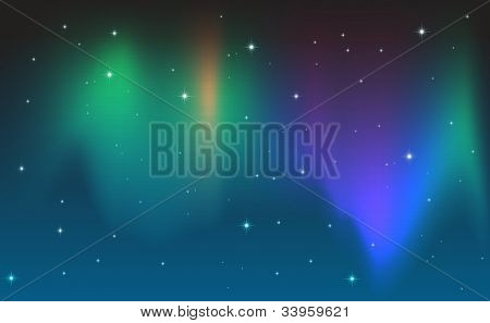 Illustration of an aurora in the sky