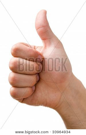 hand Showing Thumbs Up Sign