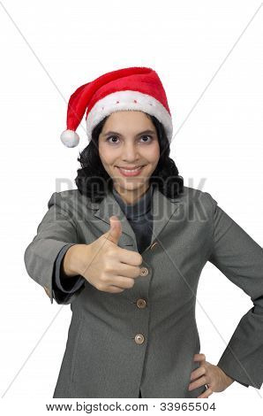 Success Santa Woman