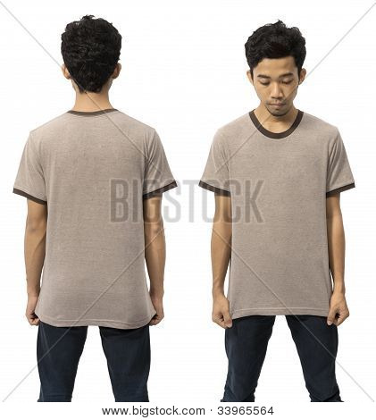 Man Wearing Empty Tshirt