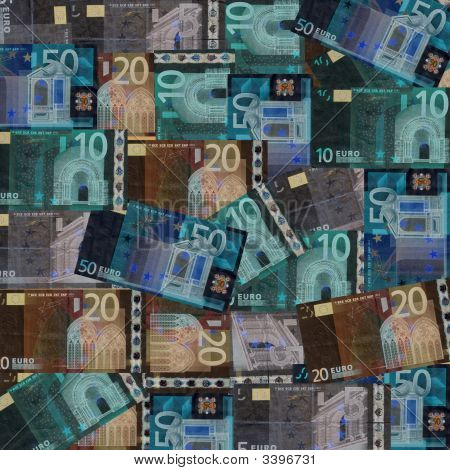 Euros Inverted Colour Background