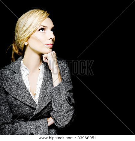 Preoccupied Beautiful Business Woman