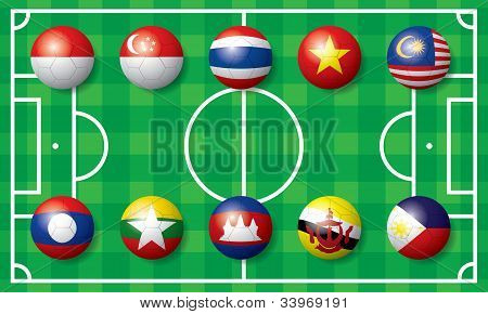 International Soccer football flag