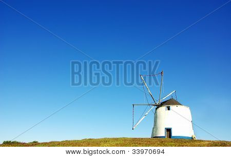 Windmill At Portuguese Field
