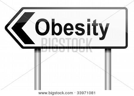 Concepto de obesidad.
