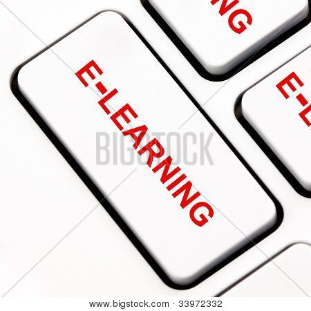 Tecla del teclado del E-learning