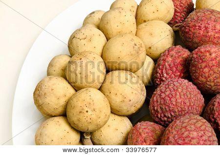 Longkong And Lichee , Thai Fruit