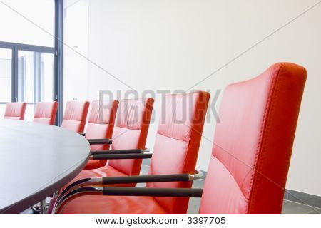 Chairs In A Meeting Room