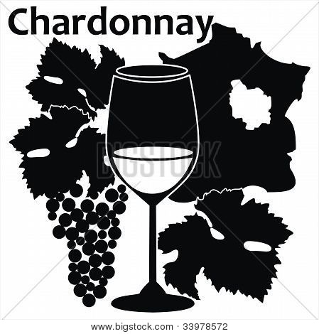 wine glass for white French wine - Chardonnay