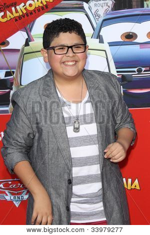 ANAHEIM - JUN 13:  Rico Rodriguez arrives at the