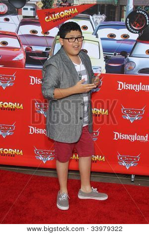 "ANAHEIM - JUN 13:  Rico Rodriguez arrives at the ""Cars Land"" Grand Opening  at California Adventure on June 13, 2012 in Anaheim, CA"