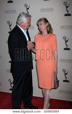 LOS ANGELES - JUN 14:  John McCook, Laurette Spang McCook arrives at the ATAS Daytime Emmy Awards Nominees Reception at SLS Hotel At Beverly Hills on June 14, 2012 in Los Angeles, CA