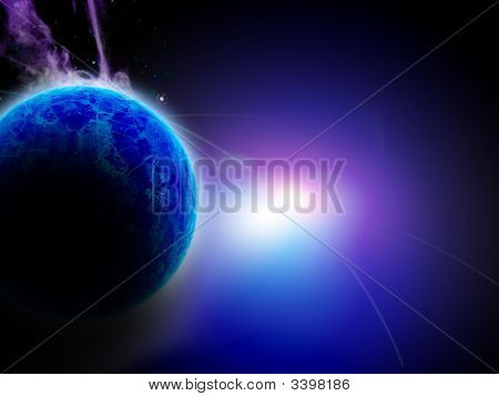 Bright Blue Planet