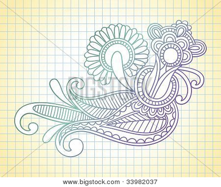 Notebook Doodles Vector Illustration