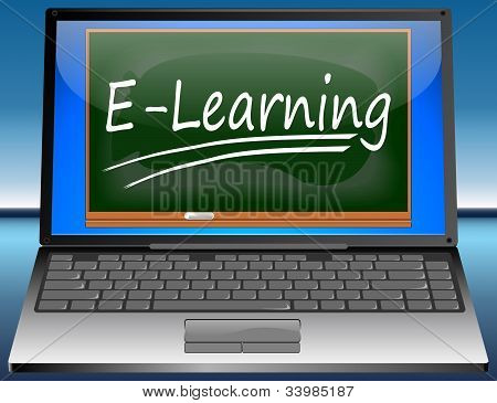 Laptop with E-Learning