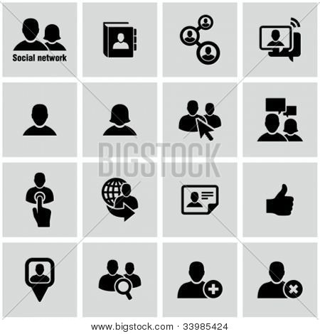Icons set for social network and community sites.