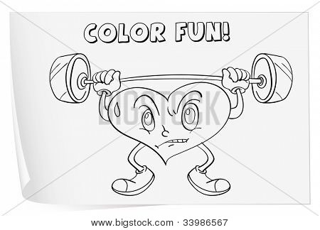 Illustration of a colouring worksheet (heart) - EPS VECTOR format also available in my portfolio.