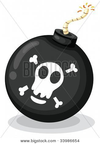 Illustration of a bomb on white - EPS VECTOR format also available in my portfolio.