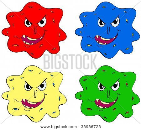 Germs and bugs in different colours - EPS VECTOR format also available in my portfolio.