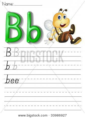 Alphabet worksheet on white paper - EPS VECTOR format also available in my portfolio.
