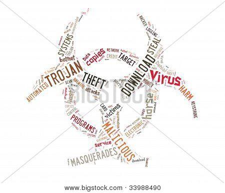 Ilustração de fundo de vírus cavalo de Tróia