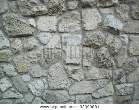 wall from rocks