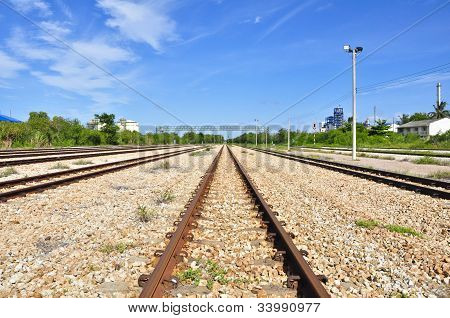 Stahl Straße Zug
