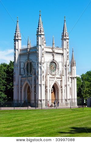 Gothic Chapel In Peterhof