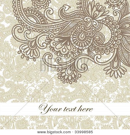 Frame Ornate Card Announcement