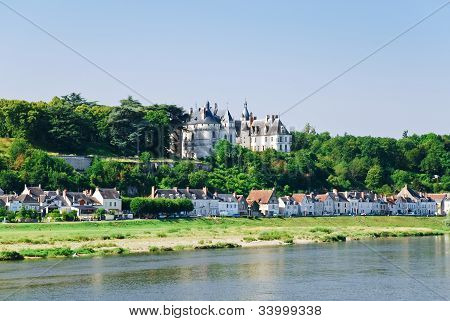Riverside Town Amboise On Bank Of Loire, France