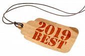 2019 best sign - a paper tag with a twine isolated on white, best products of the year poster