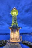 Lighthouse At The Paquis, Geneva, Switzerland, Hdr poster