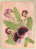 Bouquet Of Dry Flowers On A Colored Background. For Use In Floristry, Scrapbooking And Herbaria. Cou poster